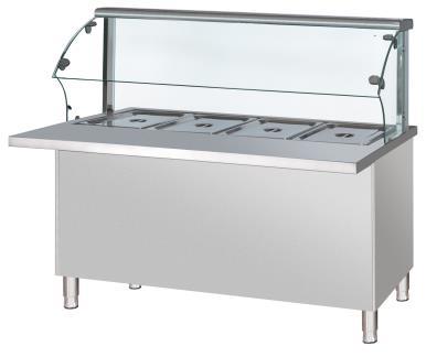 玻璃罩保温售饭柜
